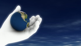 hand with earth